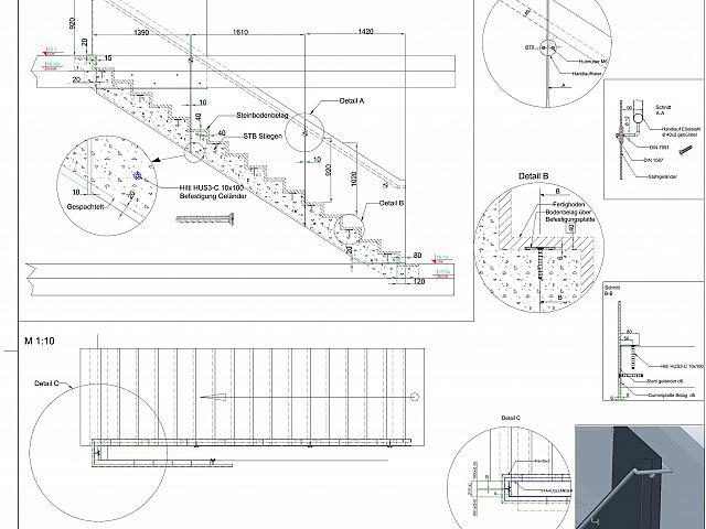 Detajliranje stopniščne ograje