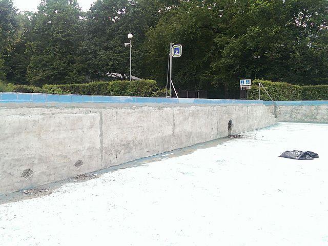Sanacija bazenske betonske konstrukcije